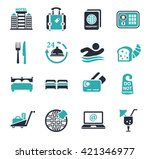 hotel icons | Shutterstock .eps vector #421346977