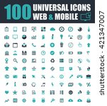 universal icons | Shutterstock .eps vector #421347007