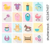 collection of baby icons   kids ... | Shutterstock .eps vector #421347457