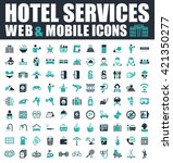 hotel icons | Shutterstock .eps vector #421350277