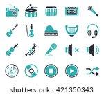 music icons | Shutterstock .eps vector #421350343