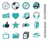 entertainment icons set | Shutterstock .eps vector #421350403