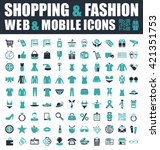shopping and fashion icons | Shutterstock .eps vector #421351753