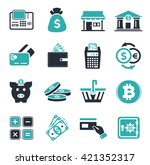 banking icons set | Shutterstock .eps vector #421352317