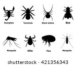 vector illustration silhouettes ... | Shutterstock .eps vector #421356343
