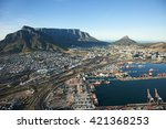 Aerial View Of Cape Town City...