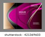 style tri fold brochure design. ... | Shutterstock .eps vector #421369603