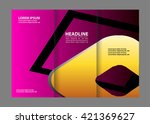 vector modern tri fold brochure ... | Shutterstock .eps vector #421369627