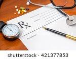 rx blank prescription ...   Shutterstock . vector #421377853