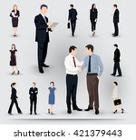 collection of business people... | Shutterstock .eps vector #421379443