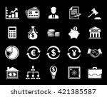 finance icons | Shutterstock .eps vector #421385587