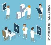 flat 3d isometric medical... | Shutterstock .eps vector #421385803