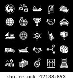 shipping icons | Shutterstock .eps vector #421385893
