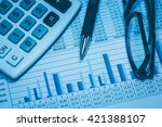 accounting financial bank... | Shutterstock . vector #421388107
