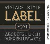 vector vintage label font ... | Shutterstock .eps vector #421399783