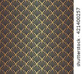 seamless art deco pattern with... | Shutterstock .eps vector #421400257