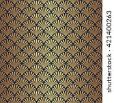 seamless art deco pattern with... | Shutterstock .eps vector #421400263