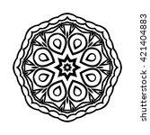 mandala. ethnic decorative... | Shutterstock .eps vector #421404883