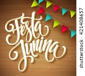 festa junina party greeting... | Shutterstock .eps vector #421408657
