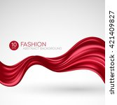 red flying silk fabric. fashion ... | Shutterstock .eps vector #421409827