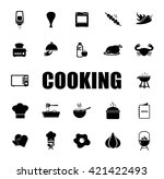 cooking icons set | Shutterstock .eps vector #421422493