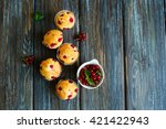 Muffins With Red Currantson...