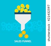 sales funnel converting ideas... | Shutterstock .eps vector #421432597