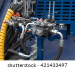hydraulic tubes  fittings and... | Shutterstock . vector #421433497