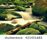 Mountain River With Blurred...