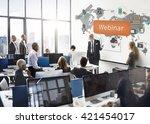 webinar technology online web... | Shutterstock . vector #421454017
