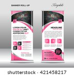 roll up banner template  stand... | Shutterstock .eps vector #421458217