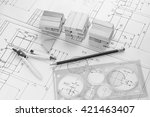 architectural blueprints | Shutterstock . vector #421463407