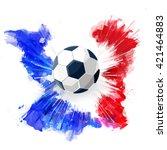 euro 2016 france football... | Shutterstock .eps vector #421464883