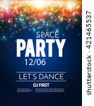 poster template with shining... | Shutterstock .eps vector #421465537