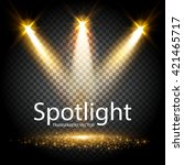transparent spotlight. scene... | Shutterstock .eps vector #421465717
