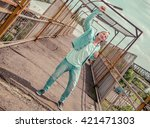 full body of a fashion man... | Shutterstock . vector #421471303