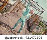full body of a fashion man... | Shutterstock . vector #421471303