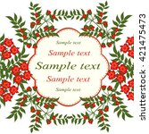 invitation or wedding card with ... | Shutterstock .eps vector #421475473