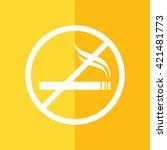 no smoking sign. yellow... | Shutterstock .eps vector #421481773