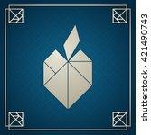 silver tangram apple.... | Shutterstock .eps vector #421490743