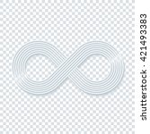 infinity symbol on transparent... | Shutterstock .eps vector #421493383