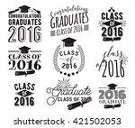 graduation wishes overlays ... | Shutterstock .eps vector #421502053