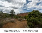 red mountain landscapes in... | Shutterstock . vector #421504393