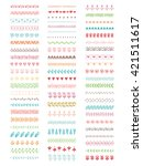 collection of vector brushes.... | Shutterstock .eps vector #421511617