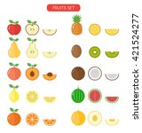 fruits colorful icons set... | Shutterstock .eps vector #421524277