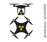 nuclear drone | Shutterstock .eps vector #421525303