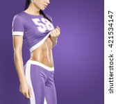 Small photo of Body of slim female in activewear