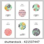 trendy creative hand drawn... | Shutterstock .eps vector #421537447