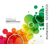 overlapping colorful circles... | Shutterstock .eps vector #421555213