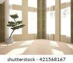 White Empty Interior Design Of...